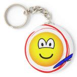 Circled emoticon Marked  keychains