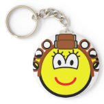 Curling buddy icon Permed  keychains