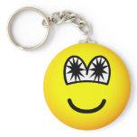 Star eyed emoticon   keychains