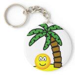 Desert island emoticon   keychains