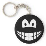 Black smile   keychains