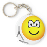 Triangle emoticon   keychains