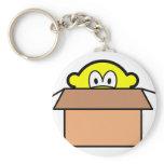 Cardboard boxed buddy icon   keychains