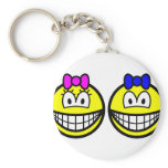 Twins smile   keychains