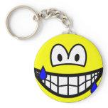 Nervous smile Sweating  keychains