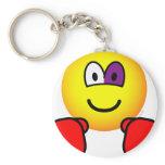 Boxing emoticon Black eye  keychains