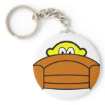Scared buddy icon Hiding behind couch  keychains