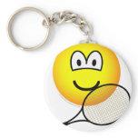 Tennis emoticon   keychains