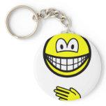 Paper smile rock - paper - scissors  keychains