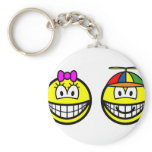 Brother and sister smile   keychains