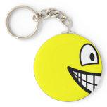 En profile smile Left  keychains