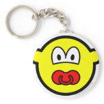 Dummy buddy icon Baby pacifier  keychains