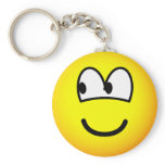 Looking left emoticon   keychains