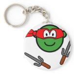 Red Ninja Turtle buddy icon   keychains