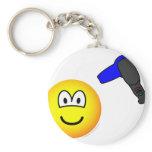 Hair drying emoticon   keychains