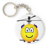 Helicopter emoticon   keychains