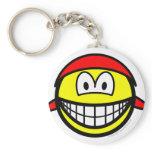 Bandana smile   keychains
