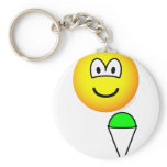 Snowcone eating emoticon   keychains