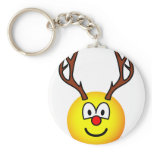 Rudolph the red nosed reindeer emoticon   keychains