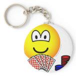 Poker emoticon   keychains