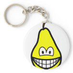 Pear smile   keychains
