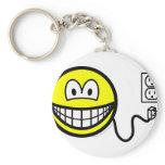 Unplugged smile Sad  keychains