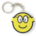 Buddy icon with glasses   keychains