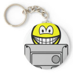 Watching telly smile   keychains