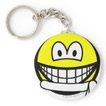 White belt smile   keychains