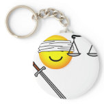 Justice emoticon   keychains