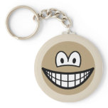 Sepia picture smile   keychains