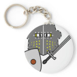 Fighting Knight smile   keychains