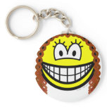 Curly hair smile   keychains