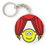 Theater buddy icon stage curtains open  keychains