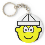 Paper hat buddy icon   keychains