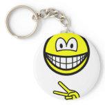 Scissors smile rock - paper - scissors  keychains