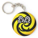 Hypnotic emoticon   keychains
