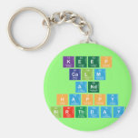 KEEP CALM AND HAPPY BIRTHDAY  Keychains