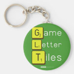Game Letter Tiles  Keychains