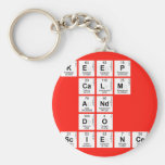KEEP CALM AND DO SCIENCE  Keychains