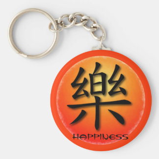 Keychains Chinese Happiness Symbol On Sunset