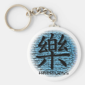 Keychains Chinese Happiness Symbol On Turquoise