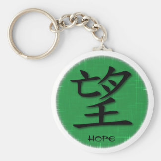 Keychains Chinese Symbol For Hope On Grass