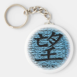Keychains Chinese Symbol For Hope On Turquoise