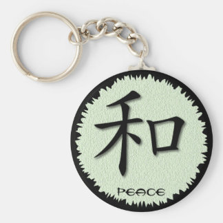 Keychains Chinese Symbol For Peace On Mat