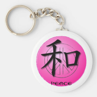 Keychains Chinese Symbol For Peace On Pink Peace