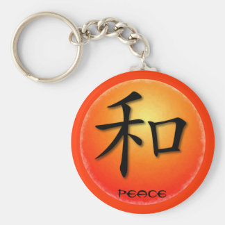 Keychains Chinese Symbol For Peace On Sunset
