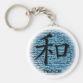 Keychains Chinese Symbol For Peace On Turquoise