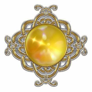 Keychains Photo Sculpture Yellow Jewel Photo Cutouts