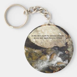 Keychains: Stream Psalm Basic Round Button Keychain